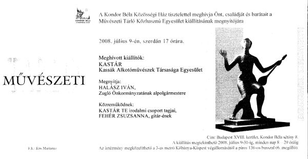 Sample Invitation Letter Art Exhibition.  SEB K Ferenc